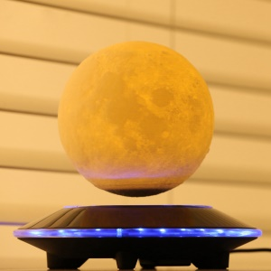 3D Print Magnetic Floating Levitation Moon Lamp LED Night Light Gift Wireless Power Supply - EU Plug