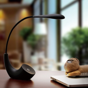 Touch Switch 3 Modes LED USB Rechargeable Desk Lamp - Black