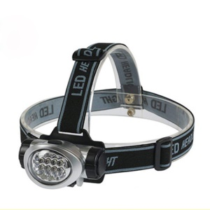 3-Mode 8-LED Headlight Waterproof Headlamp?LED Head Lamp Bicycle Camping Hiking Light - Black