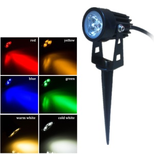 3 Watt LED RGB Light Waterproof Courtyard Lawn Lamp - RGB