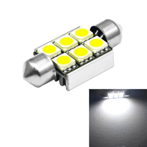 1.5W 6-SMD 5050 Festoon 36mm White Light LED Car Reading Lamp (1PC)