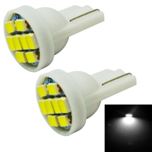 2PCS 1W T10 8-SMD 3020 LED Car Instrument Light / Decoration Lamp