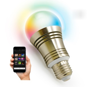 SU-650 Smart Bluetooth Dimmable LED Light Bulb APP Control for IOS Android - E26
