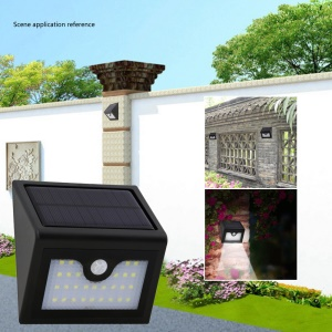 Waterproof Solar Powered PIR Motion Detection 28-LED Light for Garden Lawn
