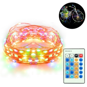 10M 100-LED Four-Color Dimmable LED String Lights Copper Wire Lights with IR Remote Control - US Plug