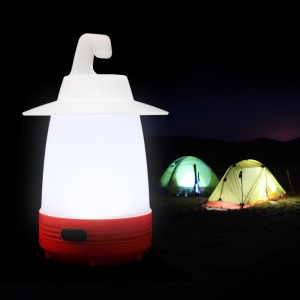 DUHAL IP65 Portable Emergency LED Lamp Flashlight Night Light for Outdoor Camp & Indoor Use - Red