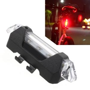 15lm High Brightness Rechargeable 4 Lightning Modes Bicycle Tail Light AQY-093 - White
