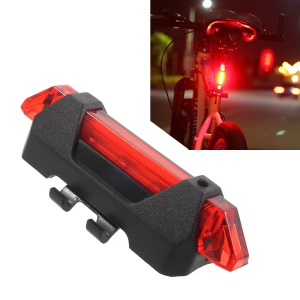 15lm High Brightness Rechargeable 4 Lightning Modes Bicycle Tail Light AQY-093 - Red