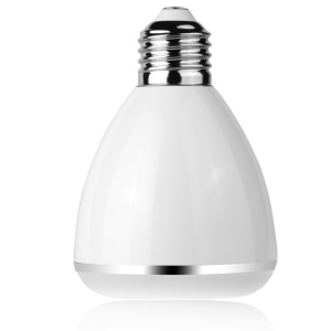 YHW BL-08A 2-in-1 Smart E27 Colorful LED Bulb + Bluetooth Speaker - White
