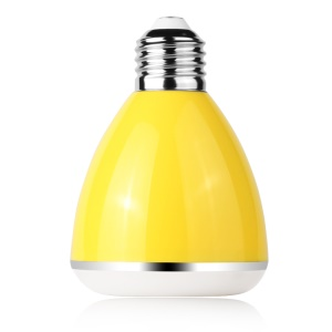 YHW BL-08A 2-in-1 Intelligent E27 Colorful LED Bulb Light + Bluetooth Speaker - Yellow