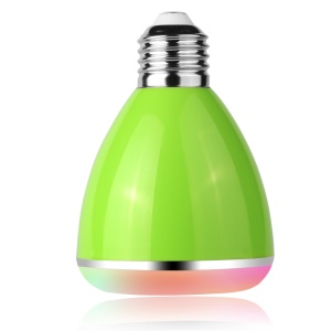YHW BL-08A 2-in-1 Intelligent E27 Colorful LED Bulb + Bluetooth Music Speaker - Green