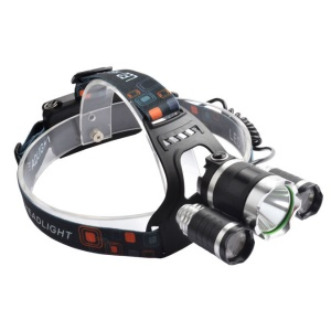 1600LM 20W CREE LED Bright Outdoor Headlamp with 2 Batteries and Wall Charger - EU Plug