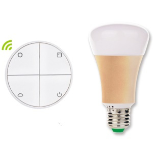 SIMPLELINK Battery-free Wireless Switch and High Quality LED Bulb Convenient Dimming Kit - SIM1010-LK4-V1 / White