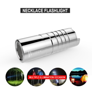 WUBEN G339 Mini Stainless Steel Rechargeable LED Necklace Flashlight