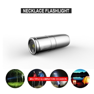 WUBEN G338 Mini Bullet LED Flashlight IPX8 Waterproof Necklace Chain Style Torch
