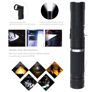 KLARUS AR10 USB Rechargeable Flashlight 6 Modes with Adjustable Head
