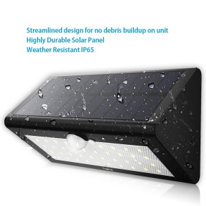 Waterproof Solar Powered Wireless Motion Activated Light 38-LED Solar Lamp - Black