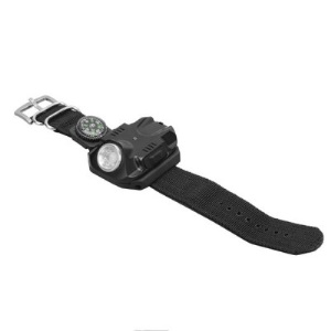 B99 Outdoor Rechargeable Wrist Flashlight 5 Modes 100-240LM Bracelet Torch Light with Tactical Compass