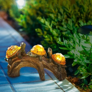 Tortoise Design Solar Power Resin Landscape Light Outdoor Decoration Garden Lawn LED Lamp