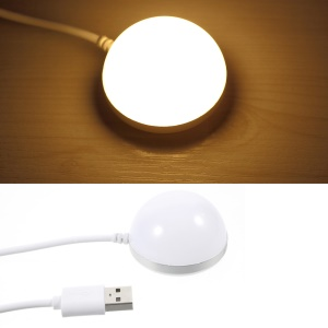 Magnetic Mini USB Light Bulb DC5V 2W Dimmable LED Lamp with 1.5m Cord - Warm White