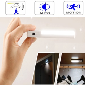 Stick-on Rechargeable PIR Human Motion Sensor Night Light - White
