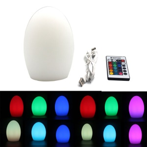 Cute Egg Shape 16-color Atmosphere LED Night Lamp - White