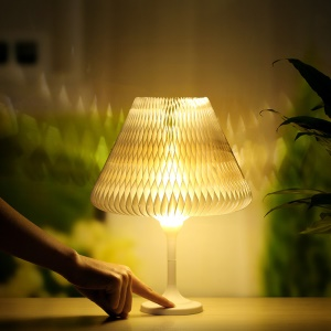 Creative Shape Changeable Paper Touch Control Night Light Dimmable LED Table Lamp Bedside Decoration