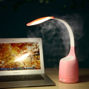 Creative 2-in-1 Eye Care LED Desk Lamp and 160ml Air Humidifier - Pink