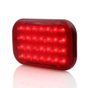 Magnetic Base 3W 28-LED Car Truck Emergency Signal Warning Flashing Light - Red