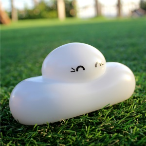 Cloud Face LED Lamp Night Light Mini Cloud Lamp Toy Home Decoration for Children's Bedroom - Warm White