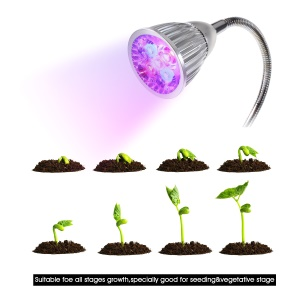5W Red Blue Light LED Grow Light with 360 Degree Rotary Gooseneck and Clip for Indoors Plants - EU Plug