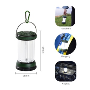 Portable Waterproof Outdoor LED Night Light Travel Light for Camping Hiking - Green