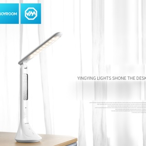 JOYROOM CY165 LED Eye-protective 3 Brightness Touch Control Table Lamp with LED Calendar - White