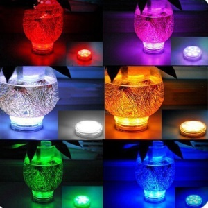 Remote Controller Submersible LED Light Multi-color Changing Waterproof 10-LED Night Light