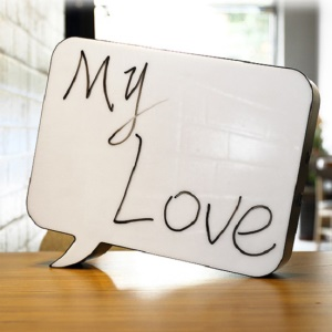 Free Combination LED Cinematic Speech Lightbox Wedding Party Decoration Light, Size: 30 x 5 x 22cm