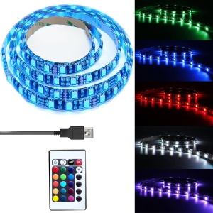 TV LED Light Strip 1 metro 30 LEDs 800MCD USB LED TV retroiluminación banda de cambio de banda de color kit