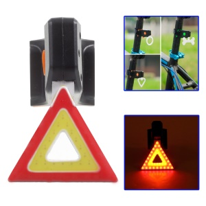 USB Rechargeable Bike Tail Light LED Bicycle Rear Lamp - Triangle Pattern