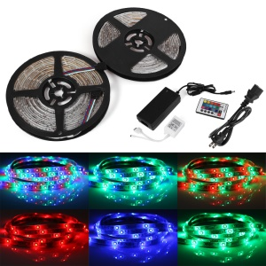 10M DC12V 3528SMD 600 LEDs RGB Waterproof Soft Light Strip YK0422 - EU Plug