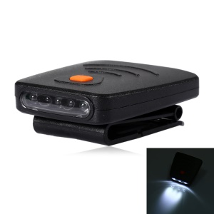 3-LED Clip-On Cap Light USB Rechargeable Infrared Human Body Induction Headlamp with Clip - Black