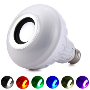 YK0060 RGB Color Bulb E27 Bluetooth Wireless Smart Music Player Audio Speaker Lamp with Remote Control
