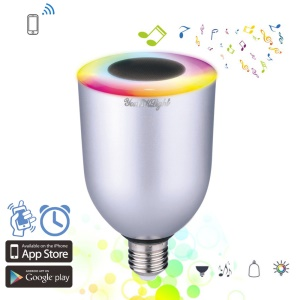 E26 E27 7W RGB LED Light Bulb with Bluetooth Speaker Support APP Remote Control