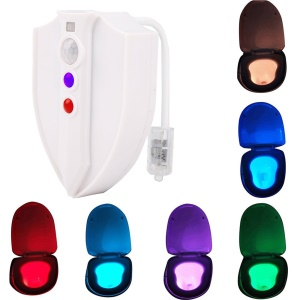 YK2248 8-Color Motion Activated Sensor Toilet Lamp UV Toilet Light
