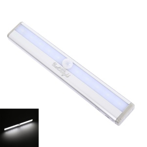YK2246 Motion Activated Sensing 10-LED Light Night Lamp - Cool White