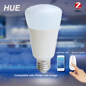 ZIGBEE E27 9W Home Dimmable Light Smart Bulb Support Smartphone APP Remote Control