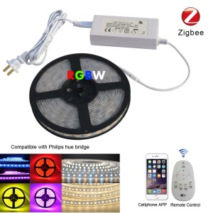Zigbee 5M RGBW 5050 SMD LED Light Strip Mobile APP Control Smart Strip - EU Plug
