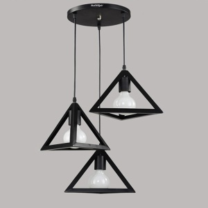 YouOKLight YK2401 rétro-Lustres triangulaires industriels en suspension pour Cafe Bar, etc.