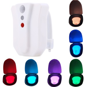 YouOKLight YK2249 Motion Activiated 8 Color Changing IP65 Waterproof LED Toilet Seat Night Light
