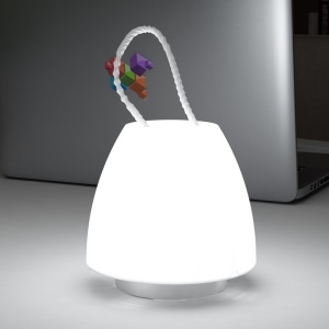 Mushroom Shaped Portable LED Dimmable Hanging Lamp with Remote Control - White Light