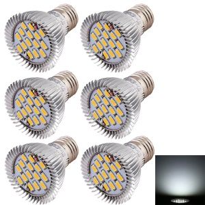 6PCS/Set 15-SMD LED E27 7.5W 720LM Spot Light Bulbs - Cool White