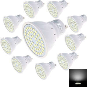 YK1630 10PCS/Set GU10 3W 48-SMD 2835 LED Light Bulb Spotlight AC220V - Cool White